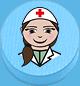 Ärztin hellblau