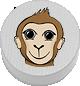 Affe weiß