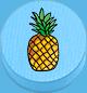 Ananas hellblau