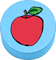 Apfel hellblau