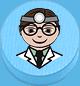 Arzt hellblau