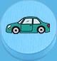Auto hellblau