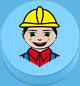 Bauarbeiter hellblau