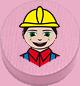 Bauarbeiter rosa