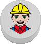 Bauarbeiter weiß