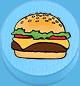 Burger hellblau
