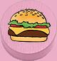 Burger rosa