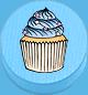 Cupcake hellblau