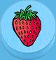 Erdbeere hellblau