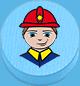 Feuerwehrmann hellblau