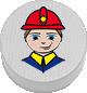Feuerwehrmann weiß