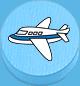 Flugzeug hellblau