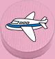 Flugzeug rosa