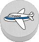 Flugzeug weiß