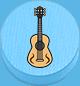 Gitarre hellblau