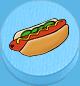 Hotdog hellblau