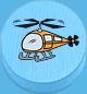 Hubschrauber hellblau