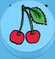 Kirsche hellblau