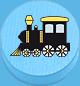 Lokomotive hellblau