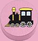 Lokomotive rosa