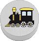 Lokomotive weiß