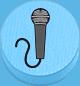 Mikrofon hellblau