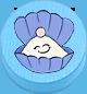 Muschel hellblau