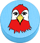 Papagei hellblau
