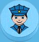 Polizist hellblau