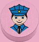 Polizist rosa