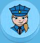 Polizistin hellblau