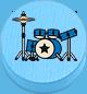 Schlagzeug hellblau