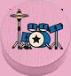 Schlagzeug rosa