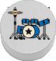 Schlagzeug weiß