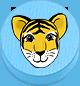 Tiger hellblau