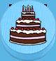 Torte hellblau