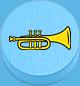 Trompete hellblau
