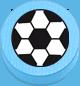 Fussball hellblau