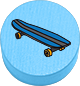 Skaten hellblau