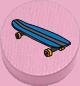 Skaten rosa