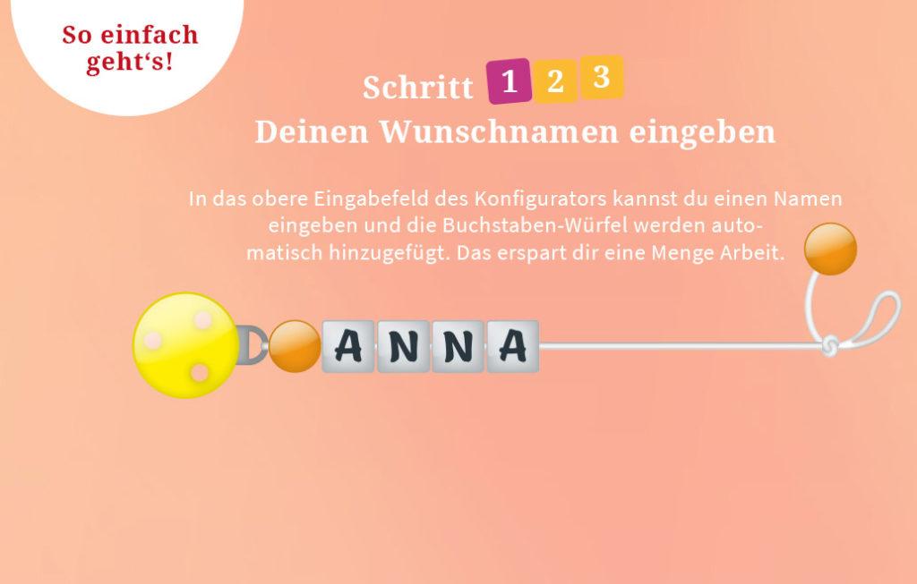 Annas Schnullerketten mit Namen und Foto-Upload - slider full img step1 mobil