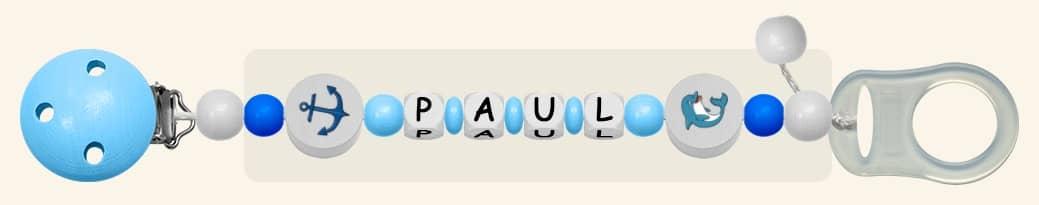 Schnullerketten für Jungen Paul Maritim