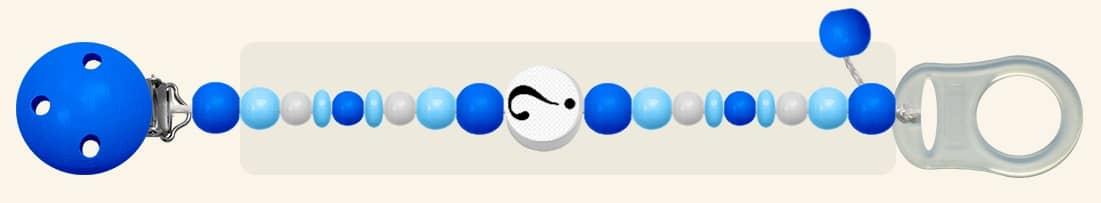 Nuckelkette ohne namen mit foto blau